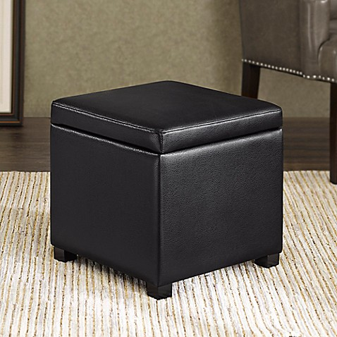 image of Regency Heights® Maddox Small Cube Storage Ottoman - Storage Benches, Ottomans & Cubes, Pouf - Bed Bath & Beyond