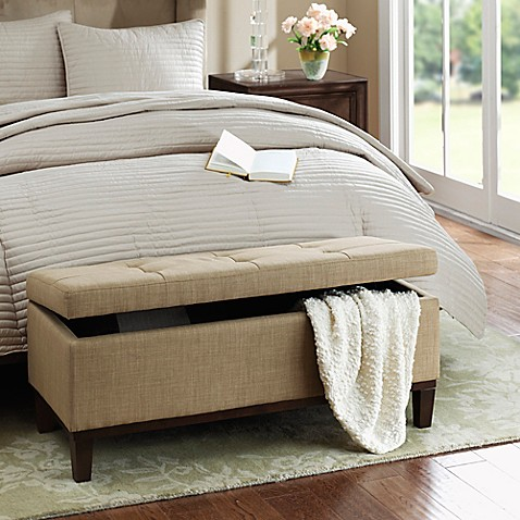 image of Regency Heights® Amherst Bench Storage Ottoman - Storage Benches, Ottomans & Cubes, Pouf - Bed Bath & Beyond