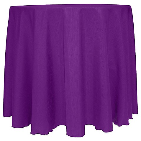 Buy Majestic Satin Finished 90 Inch Round Tablecloth In