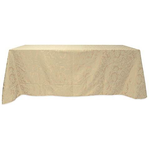 Buy Miranda Damask 90 Inch X 132 Inch Tablecloth In