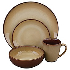 image of Nova Brown 16-Piece Dinnerware Set