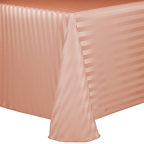 Buy Poly Stripe 90 Inch X 132 Inch Oblong Tablecloth In