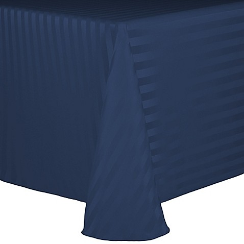 Buy Poly Stripe 60 Inch X 120 Inch Oblong Tablecloth In
