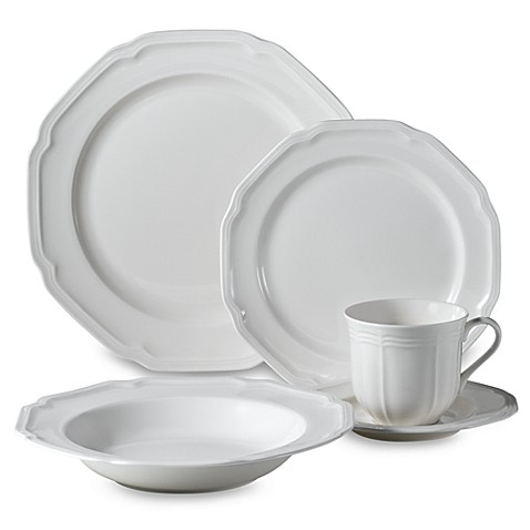 Mikasa\u0026reg; Antique White Dinnerware Collection  sc 1 st  Bed Bath \u0026 Beyond : mikasa plate set - pezcame.com