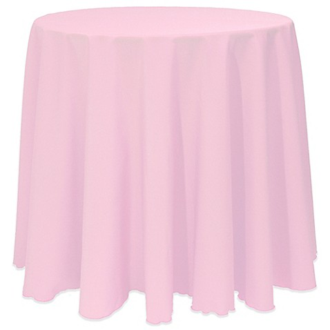 Basic 90 Inch Round Tablecloth In Light Pink Bed Bath