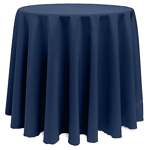 Buy Basic Polyester 90 Inch Round Tablecloth In Midnight