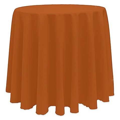 Buy Basic 90 Inch Round Tablecloth In Burnt Orange From