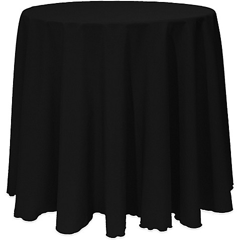 Buy basic 108 inch round tablecloth in black from bed bath for 108 inch round table cloth