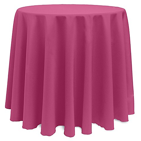 Buy basic 120 inch round tablecloth in hot pink from bed for 120 inch round table cloths