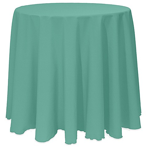 Buy basic 120 inch round tablecloth in jade from bed bath for 120 inch round table cloths