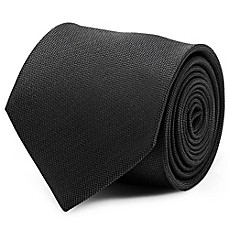 image of Silk Woven Tie in Black