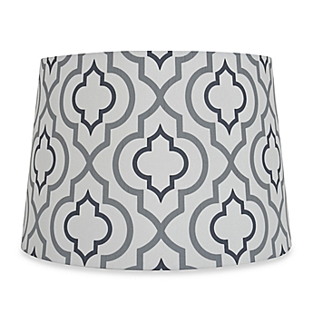 Small large lamp shades chandelier shades bed bath beyond image of mix match medium 13 inch two tone screen printed lamp shade aloadofball Choice Image