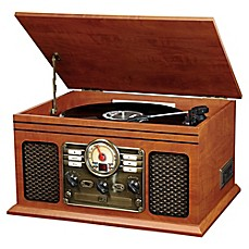 image of Victrola™ Wooden 6-in-1 Nostalgic 3-Speed Turntable with Bluetooth®