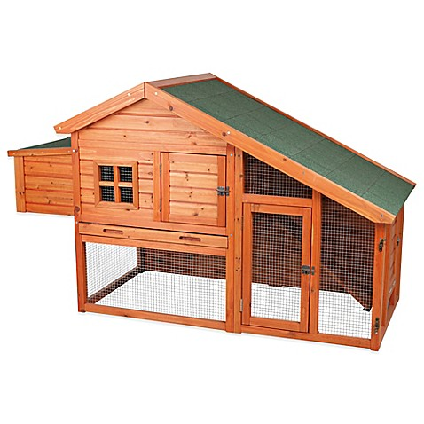 Trixie 2 Story Chicken Coop With A View In Brown Bed