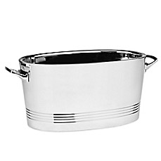 image of Top Shelf Silver Stainless Steel Double-Wall Cocktail Party Tub