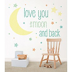 WallPops!® I Love You To The Moon Wall Wishes Decal Kit