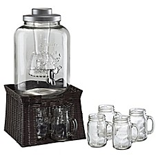 image of Artland® Masonware Mason Jar Infusion Beverage Set