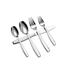 image of Gourmet Settings Non-Stop 20-Piece Flatware Set
