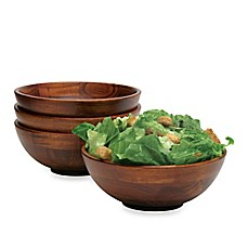image of Lipper International Footed Bowls in Cherry (Set of 4)