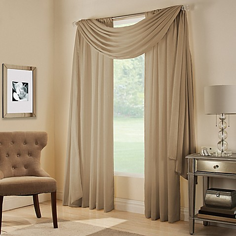 Midtown Rod Pocket Window Curtain Panel - Bed Bath & Beyond