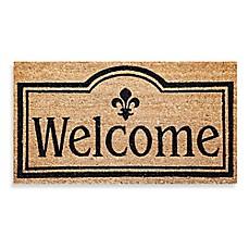 Captivating Image Of Welcome Coir Door Mat Insert