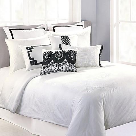3 piece bed frame nanette lepore villa peacock 3 piece duvet cover set in white