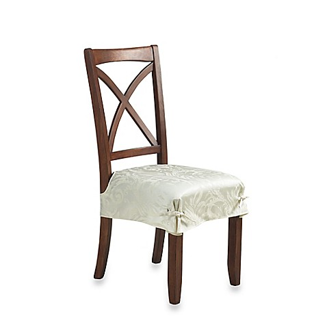 Buy Autumn Scroll Damask Seat Cover In Ivory Set Of 2