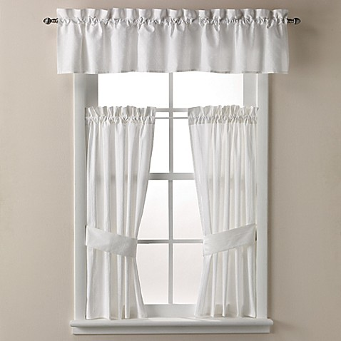 white bathroom window curtains wamsutta 174 bath window curtain tier pair and valance 21491