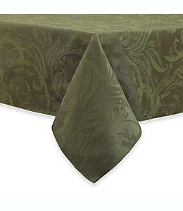 Mantel rectangular otoñal con diseño de volutas, 1.52 x 2.13 m en verde helecho