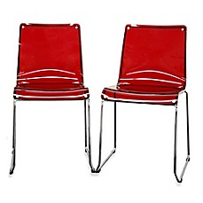 image of Lino Acrylic Dining Chairs (Set of 2)