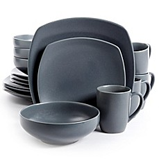 Gibson Paradiso 16-Piece Square Dinnerware Set in Grey  sc 1 st  Bed Bath u0026 Beyond & Dinnerware Sets: Stoneware Square Dinnerware and more | Bed Bath ...