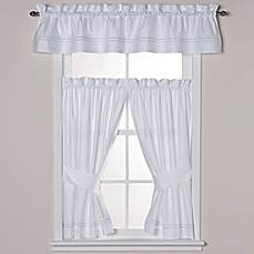 image of Wamsutta® Baratta Stitch Bath Window Curtain Panel and Valance