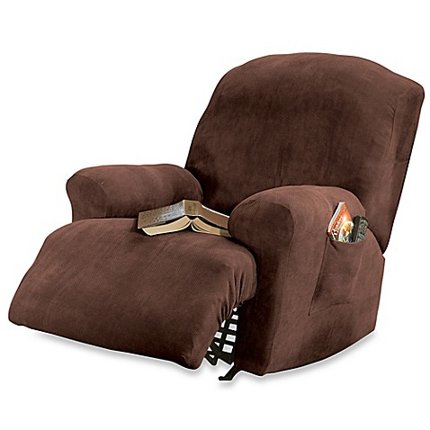 Sure Fit 174 Stretch Sterling Recliner Slipcover In Mocha