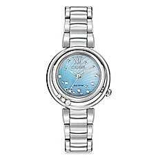 image of Citizen Eco-Drive Ladies' 30mm Diamond-Accented Sunrise Watch in Stainless Steel