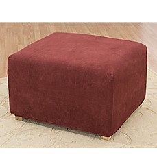 image of Stretch Pique Garnet Ottoman Cover by Sure Fit®