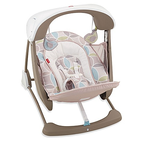 Fisher Price Deluxe Take Along Swing And Seat In Mocha Swirl