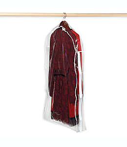 Bolsa protectora para trajes de vinilo transparente