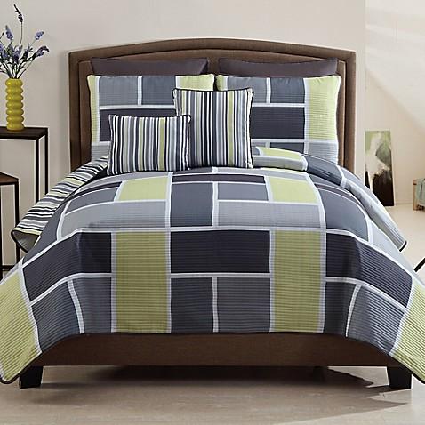 Morgan 7 Piece Reversible Quilt Set In Yellow Bed Bath