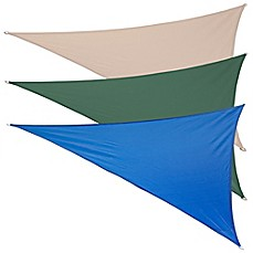 image of Coolaroo® Coolhaven 12-Foot Triangle Shade Sail with Fixing Kit
