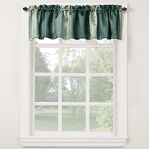 Stafford 14 inch bath window curtain valance bed bath for 14 inch window