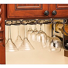 Image Of Rev A Shelf® 11 Inch Quad Under Cabinet Stemware Holder
