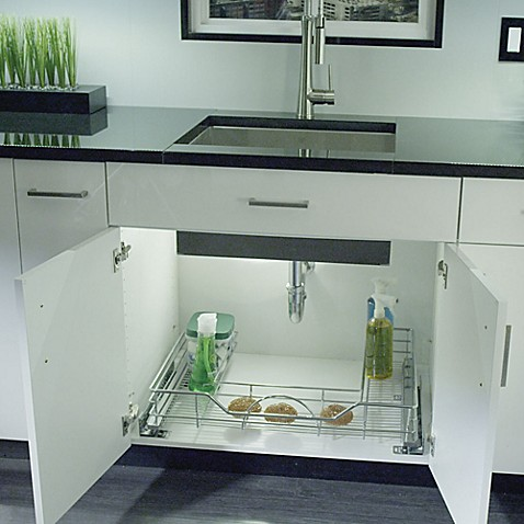 buy rev a shelf 33 inch under sink organizer from bed bath beyond. Black Bedroom Furniture Sets. Home Design Ideas