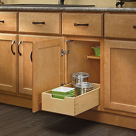 Rev a shelf base cabinet pull out drawer bed bath beyond for Pull out drawers for kitchen cabinets