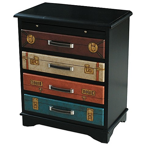 Buy Pulaski Colorful Vintage Suitcase 4 Drawer Accent