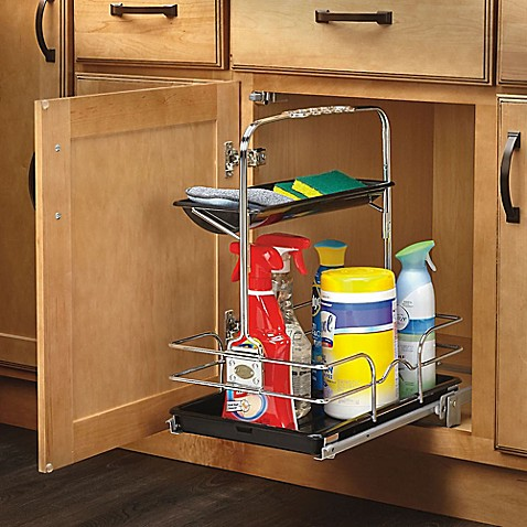 kitchen storage caddy rev a shelf 544 10c 1 sink pull out removable 3130