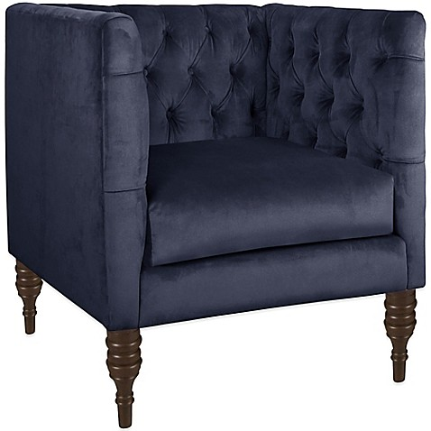 skyline furniture tufted arm chair bed bath   beyond