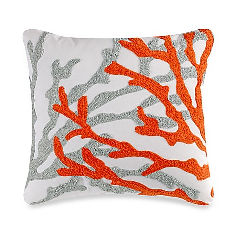Coral Bed Throw Pillows : Fiesta Key Coral Throw Pillow - Bed Bath & Beyond