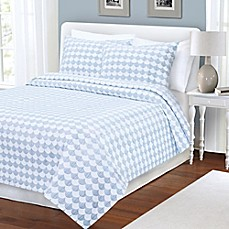 image of Finley Coverlet in Blue/White