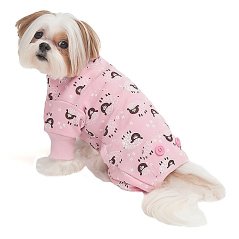 Buy Extra Small Lamb Print Pet Pajamas In Pink From Bed