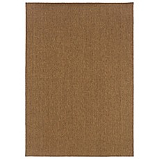 image of Oriental Weavers Santiago Indoor/Outdoor Rugs in Brown